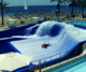 Water park attraction surf simulator surf pool flow rider for sale