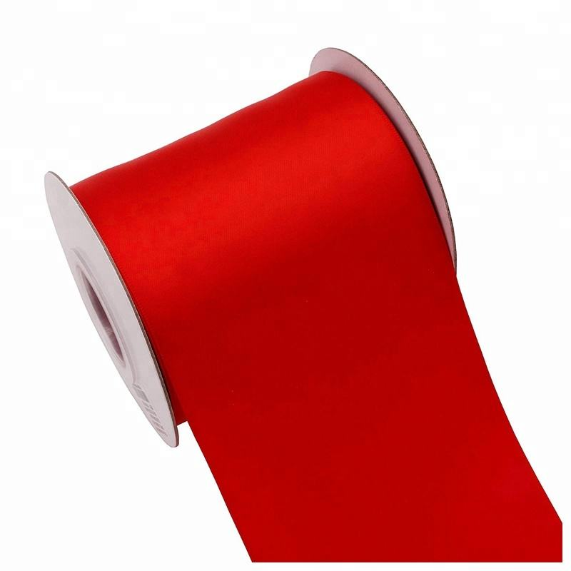 Hot Sale 4 Inch polyester Satin Ribbon For Wedding