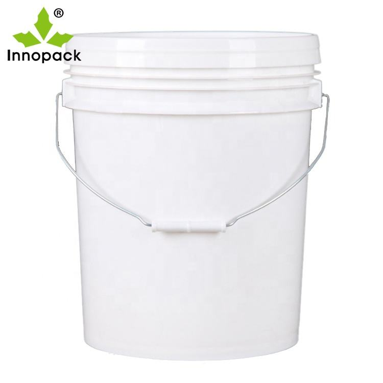 5 Gallon PP Clear Plastic Acrylic Oil Champagne Paint Pails Transparent Bukcet With Good Sealing Easy Tear Lid Handle