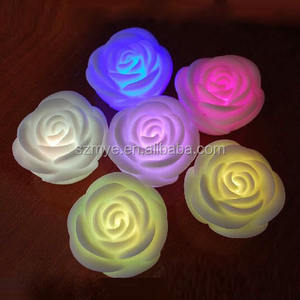 Multi-color wedding decoration 꽃 flame led rose candle 빛