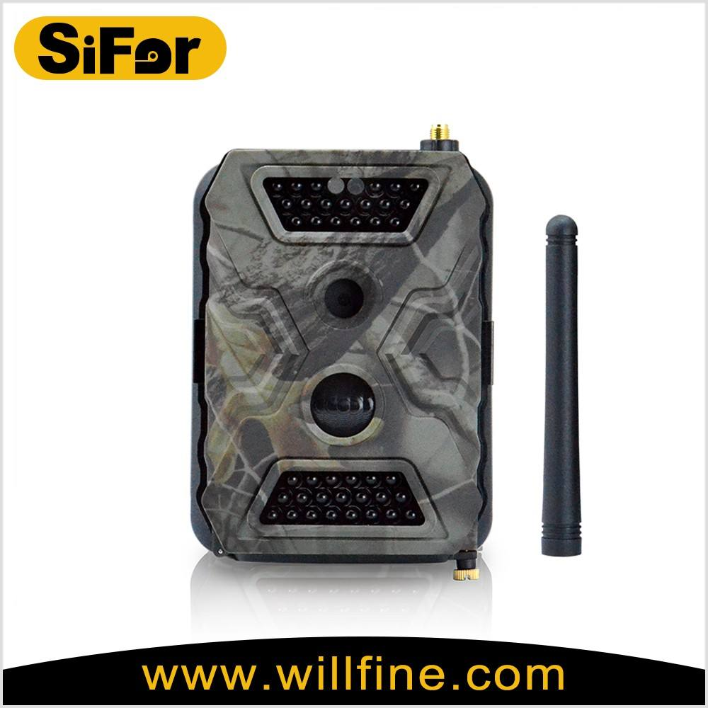 security monitoring camera outdoor support wifi/gprs/3g cellphone active battery operated for remote area surveillance