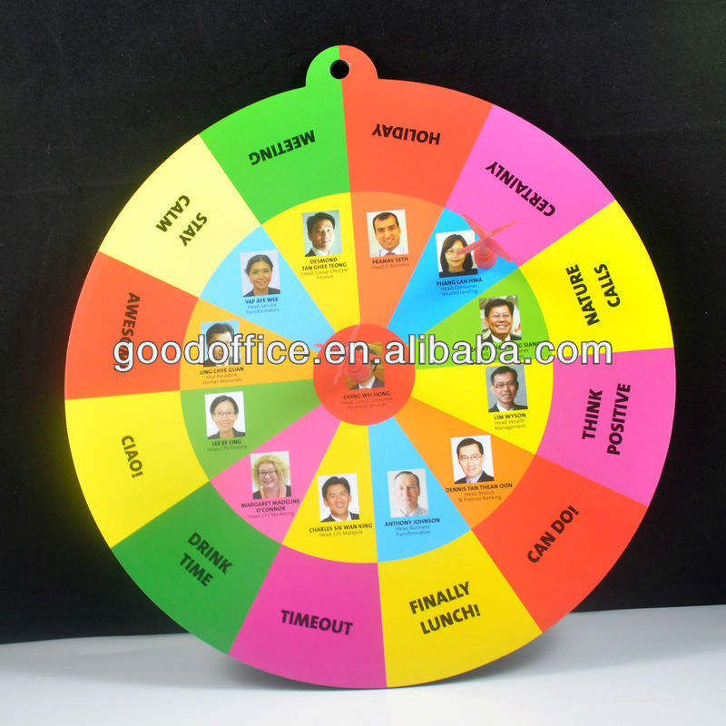 Customized sport gifts round shape magnetic dartboard