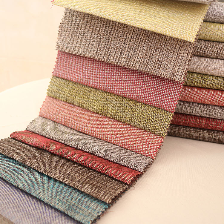 205 the most popular Plain colour ploy linen fabric best sell in china sofa fabric