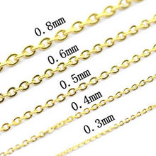 Factory price 316L stainless steel pendant gold filled link chain