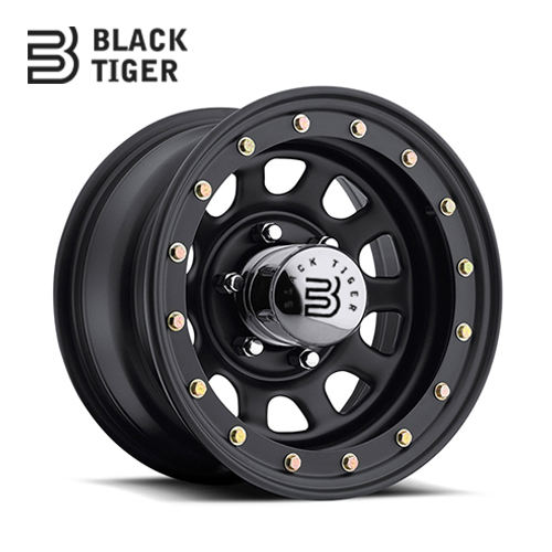 Black Tiger-Beadlock off road ruota in acciaio 15x10 Daytona