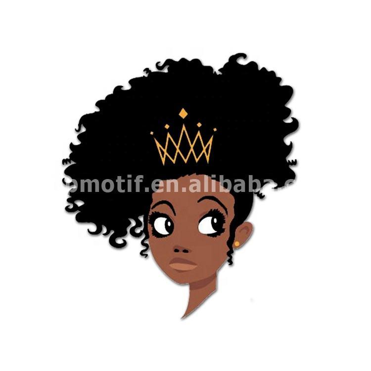 Wholesale printable heat transfer t-shirt vinyl afro girl Tee