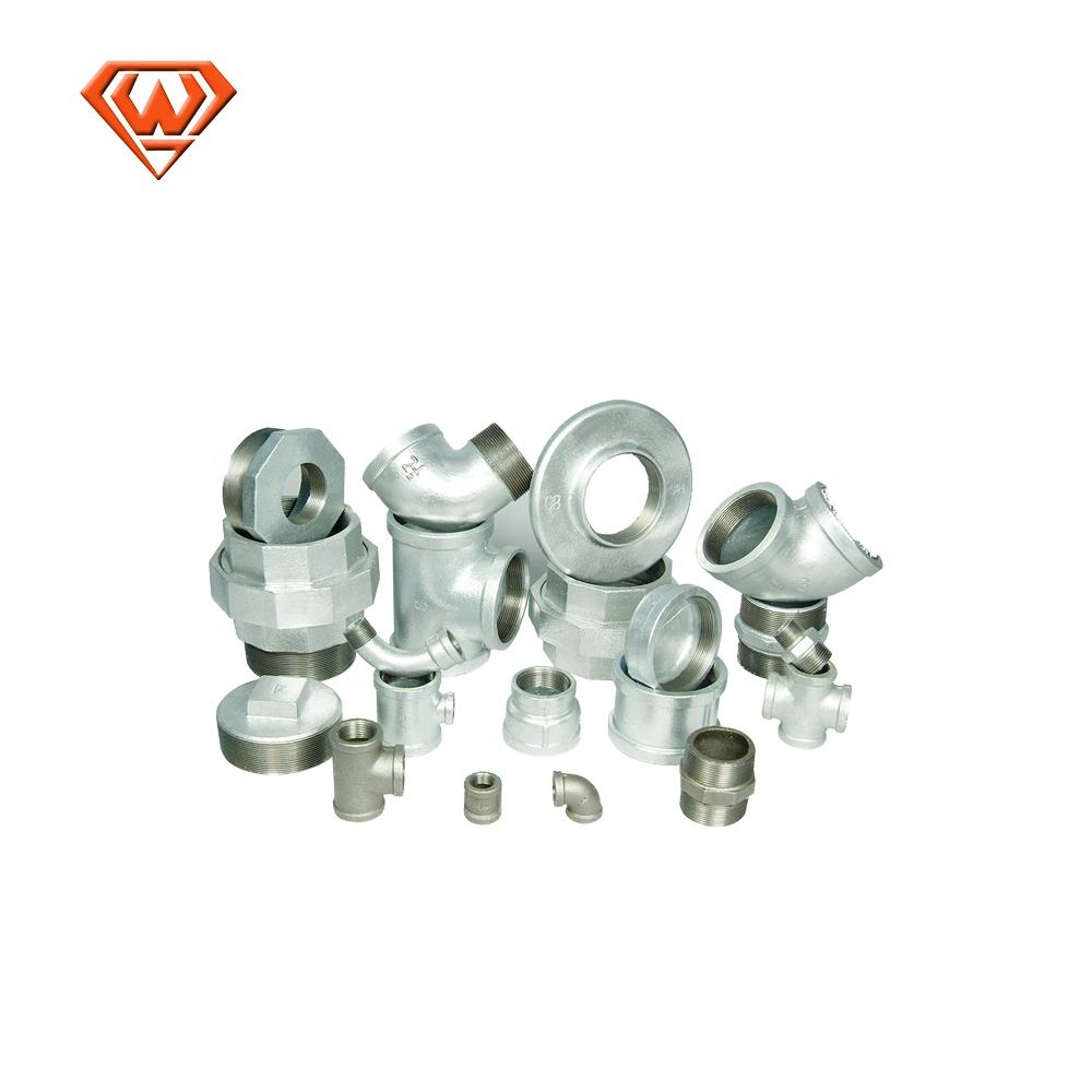 Malleable iron gi connect water pipe fittings