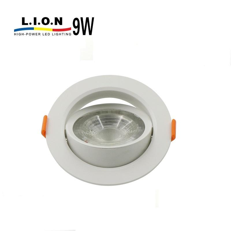 Wholesale price decorative dimmable recessed 9w led spot downlight housing
