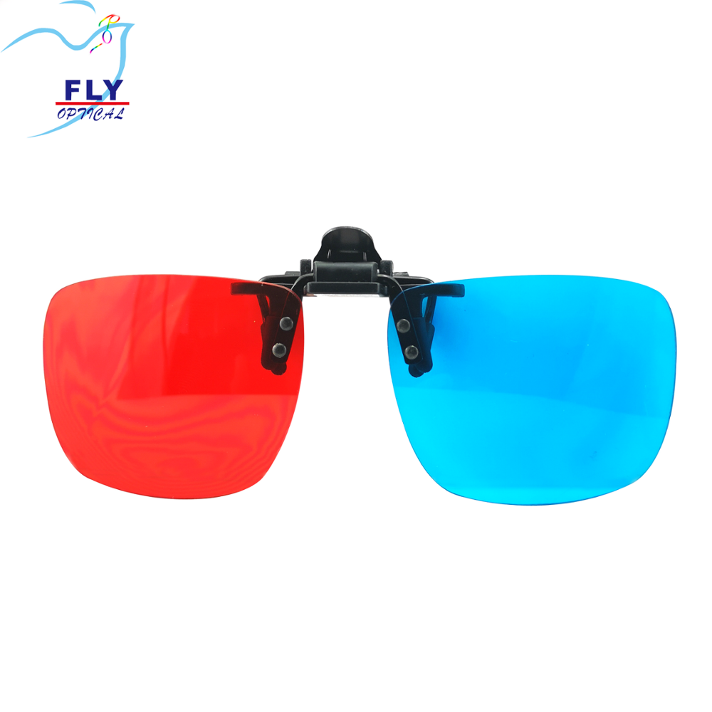 Hot Koop Nieuwe Trend Promotionele 3D Films Entertainment Acryl Clip-On Unisex Bril