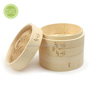 Manufacture direct supply High Quality Bamboo Mini Dim sum Steamer Cooker Basket in steamers for kitchen cookware wholesale