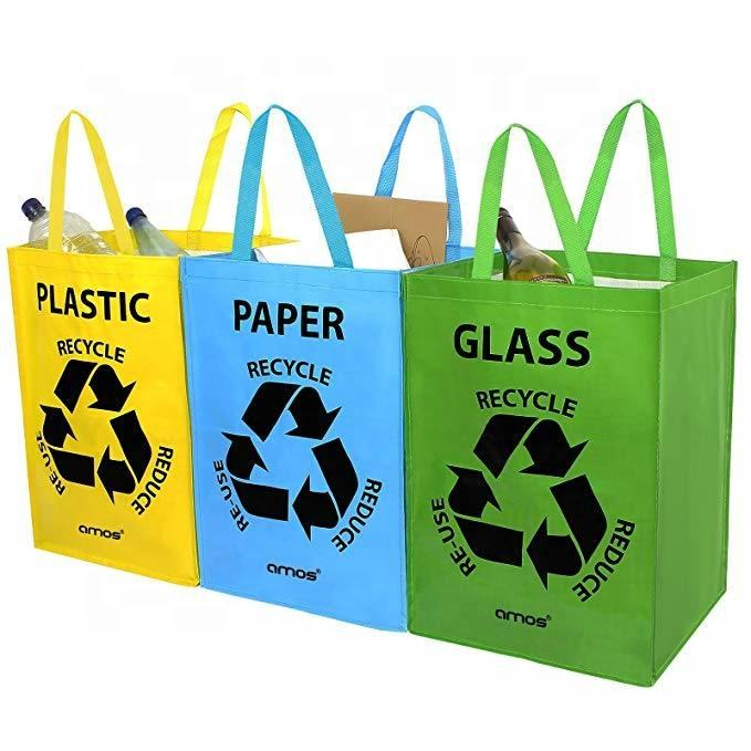 Waterproof Recycle Custom 3PCS 1 Set PP Woven Garbage Rubbish Set Bag