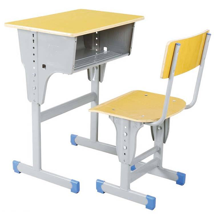 Metal Desk Frames Hot Sale Single Desk And Chair Cheap Classroom Furniture Metal Frame Height Adjustable Table Set
