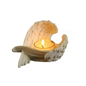 Religious Items Resin Angel Wing Decorative Votive Candle Holder