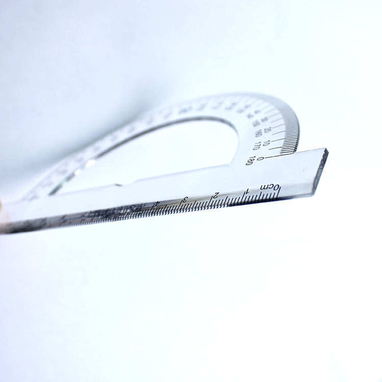 plastic 180 degree protractor 12cm