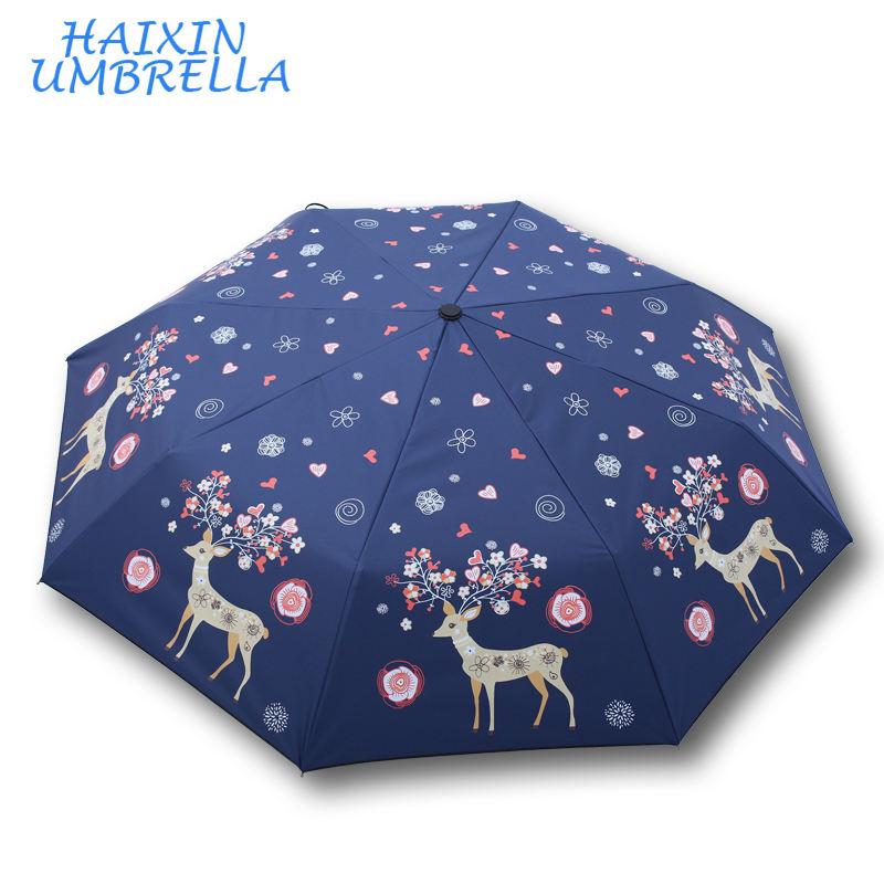 모든 종류의 레이디 아름다운 패션 접이식 수 UV 멋진 디자인 우산 높은 품질 방풍