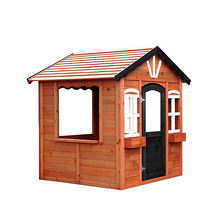 Modern Prefabricated Easy to Install Wooden Cubby House Girls Outdoor Playhouse For Kids