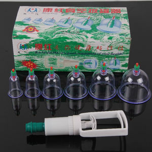 6 Cups Medical Chinese Body Cupping Massage Healthy Kit in tools