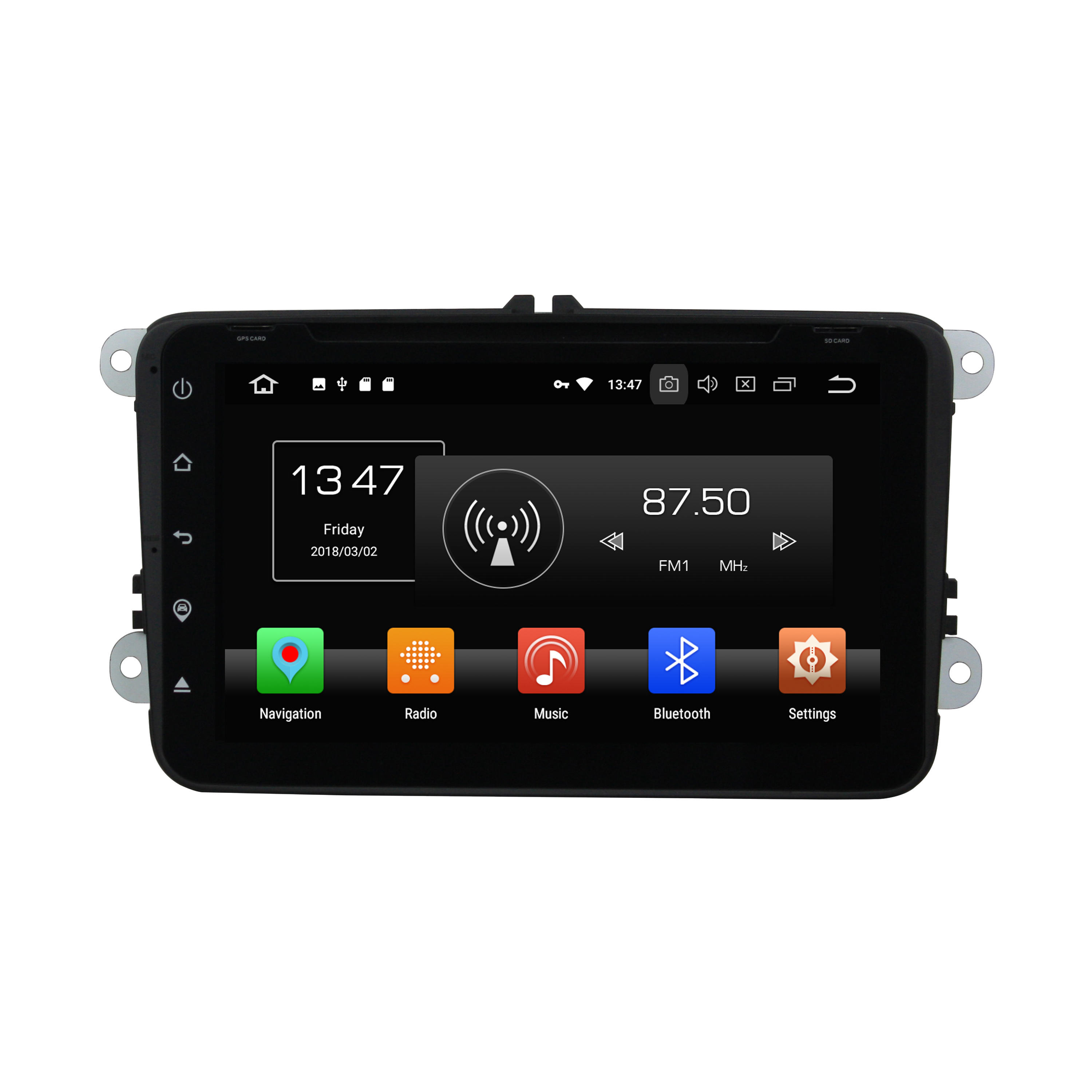 KD-8000 9 zoll full touch android 8.0 8 core auto multimedia-player unterstützung gps navigation dvr auto audio für <span class=keywords><strong>VW</strong></span> universal modell
