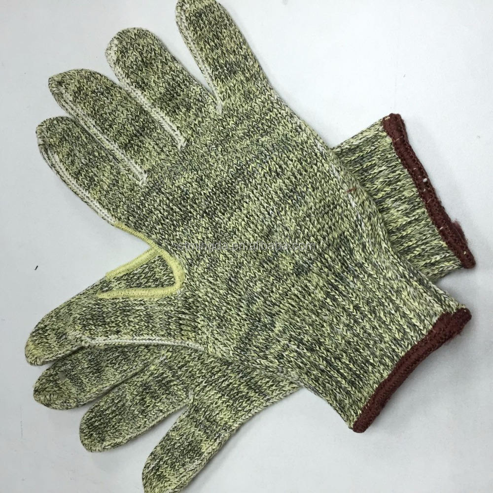 With Free Sample [ Glove ] Cut Resistant Gloves 2017popular ANSI A 4 Level Cut Resistant Covered Steel Yarn Knitting Glove Steel Wire Glove In China