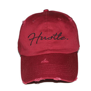 100% cotton 6 panel unstructured dad hat plain distressed baseball cap