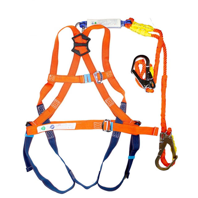 Industrial And Harness Full Body Lineman Polyester Lifeline Electrical Safety Belt