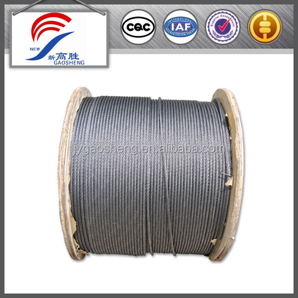 Galvanized wire hot dipped flat wire rope 6mm steel wire rope