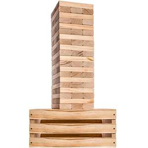 60 PCS Giant Tower Game Blocks Storage Crate Outdoor Game Starts at 32in Big Stacks up to 5ft