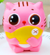 Cute PU Soft Stress Relief Slow Rising Jumbo Cat Hold Fish Eye Pop Squeeze Toy Animal Toys For Kids And Adults