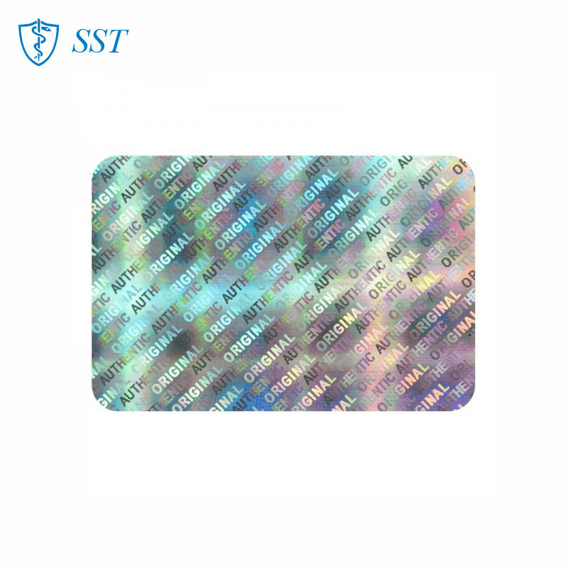 Rainbow color low price laser holographic security seal label original authenticity hologram sticker