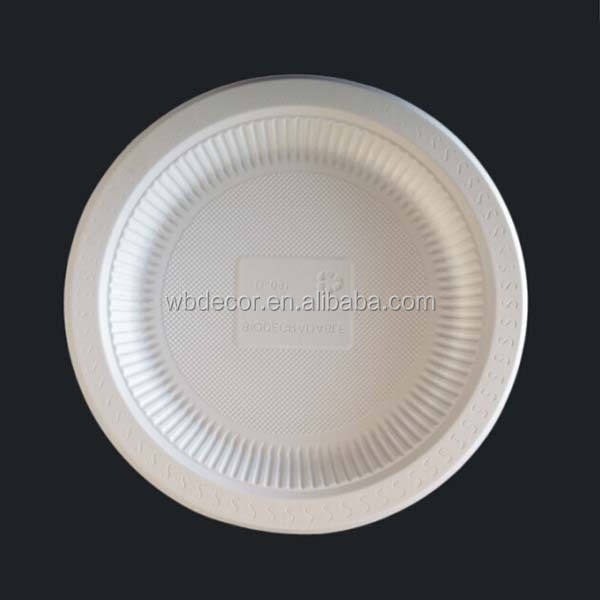 10'' Big Biodegradable Plastic Plate