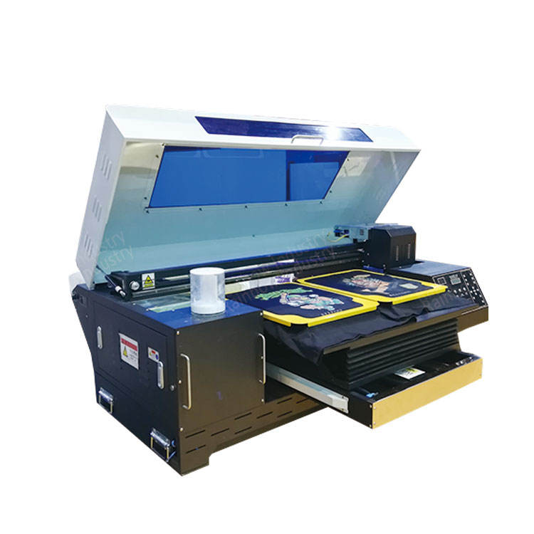 quick 4 print head xp600 directly garment dtg printer flatbed for t-shirt