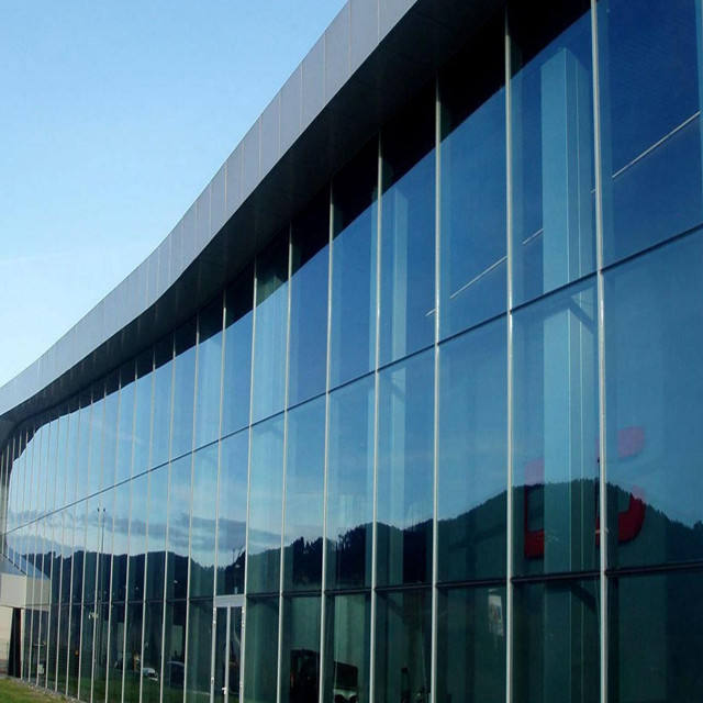 china supplier for curved exterior glass curtain wall system for building glass