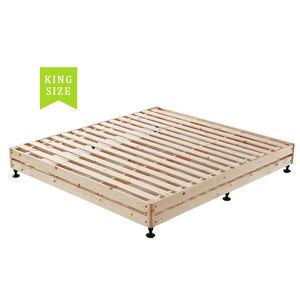 Solid wooden slatted bed frame