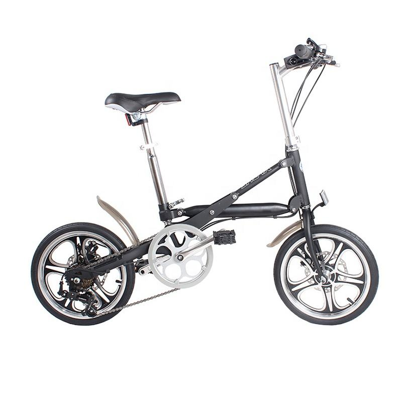 16 inch aluminum alloy Double disc brake adult light and easy to carry folding bike