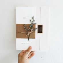 Korean Style Customized  Paper  Wedding Invitation Card