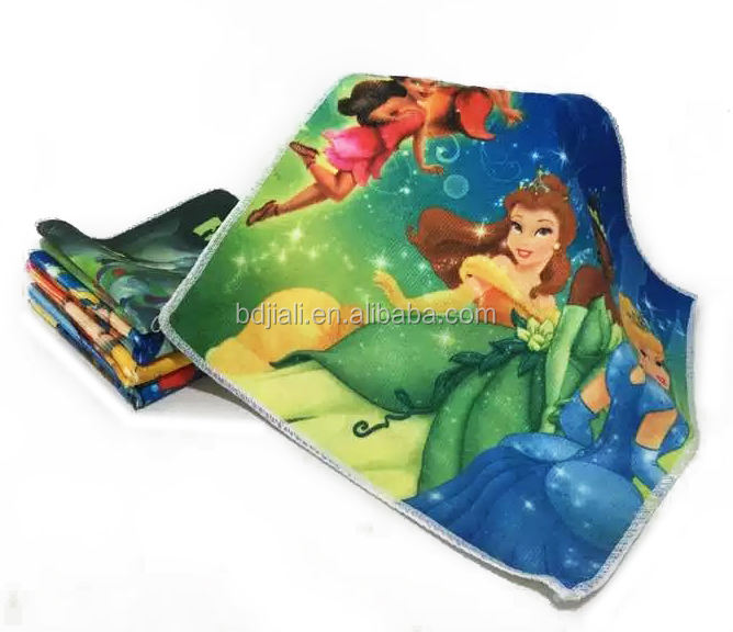 Wholesale Heat transfer printed Handkerchief Microfiber Hand Towel