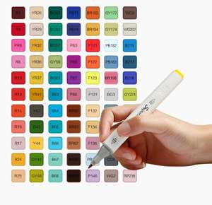 Wholesale 30/36/40/48/60/80/218 Colors Dual Tip Art Markers,Permanent Marker Pens