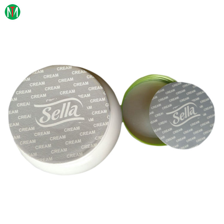 Sealed for your protection easy peelable aluminum foil induction seal liner for cosmetic jar