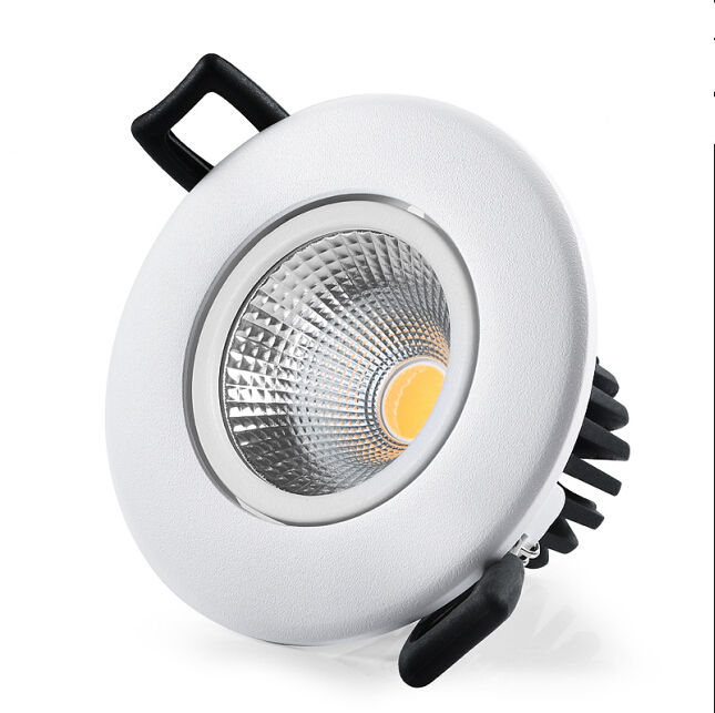 BESUN 7watt and 12w recessed white and black cob led adjustable downlight ip44 with junction box