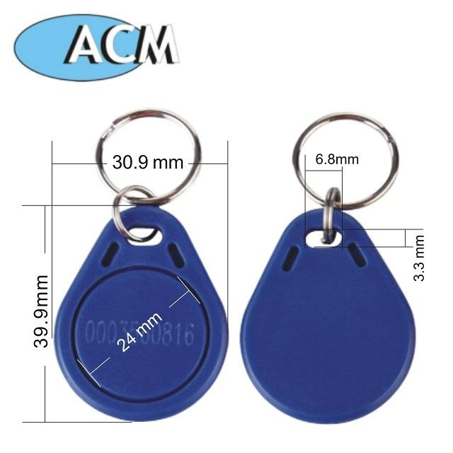 Access Control abs key tags waterproof epoxy leather rfid keyfob EM Marine proximity EM4200 TK4100 125Khz rfid key fob