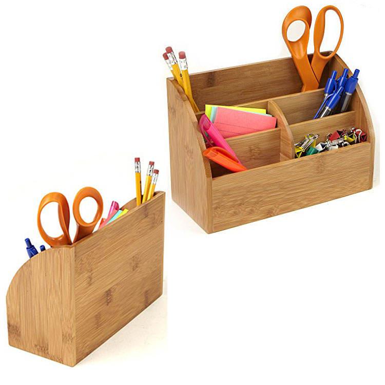 Handgeschnitzte Stift Bleistifthalter Unterstützung Holz Schreibtisch Büro Schul