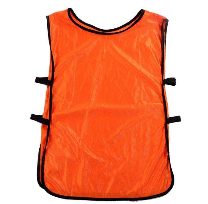 Adult/Children Football/Soccer Training Vest/Pinnies Sports Vest Customized Logo Silk Glossy Cloth Factory Wholesale