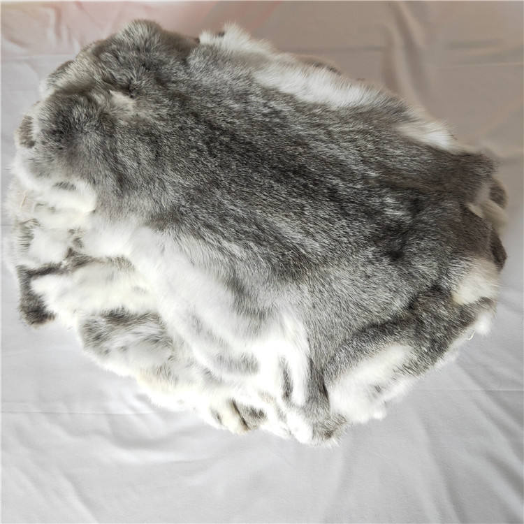 Chinese 100% genuine natural Chinchilla Silver heavy rabbit skin