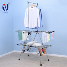 Heavy duty multifunctional wing clothes drying rack