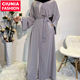 1763# Arab Turkish Jilbab Dubai Long Muslim Women Islamic Dresses Plain White Color Latest Designs Pray Simple Black Abaya