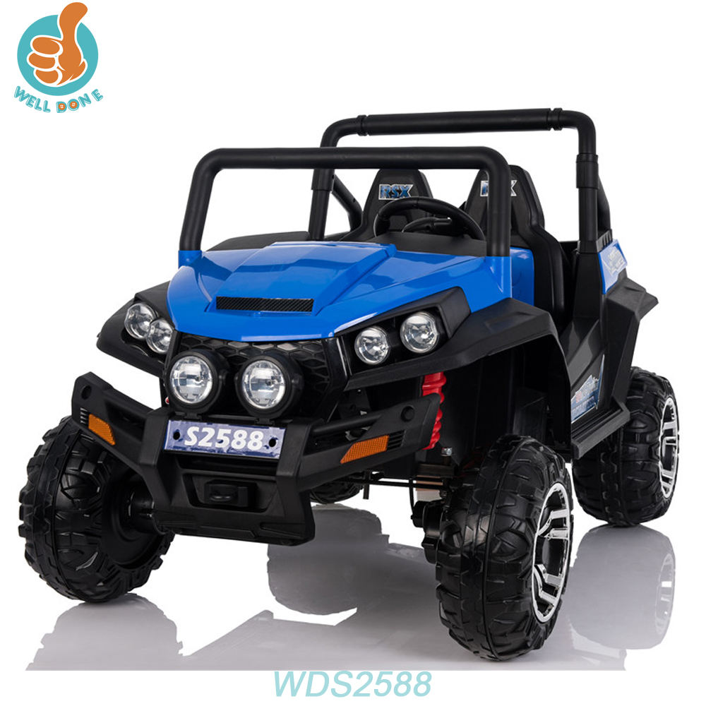 WDS2588 High Quality Baby Ride A Car Games Jeep Model With Front And Back Light