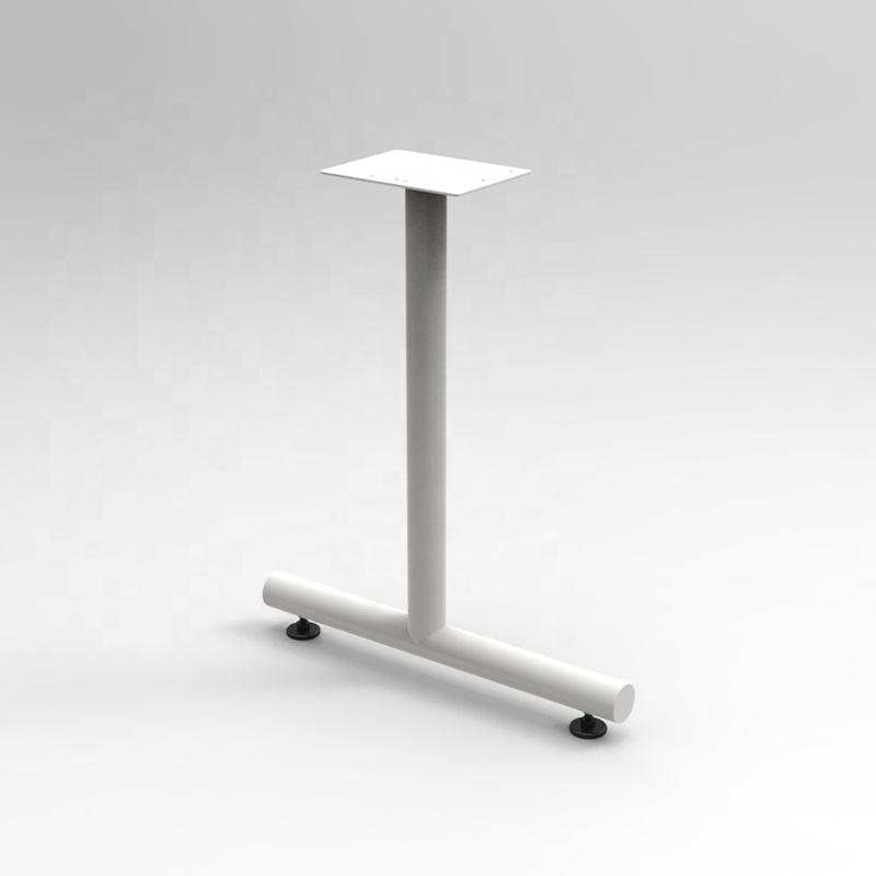 T style office table/desk legs with glides or casters