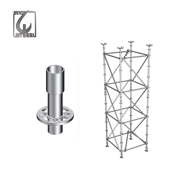 Galvanized Steel Automatic Welding Layher Ringlock Tower Scaffolding System For Construction Tube