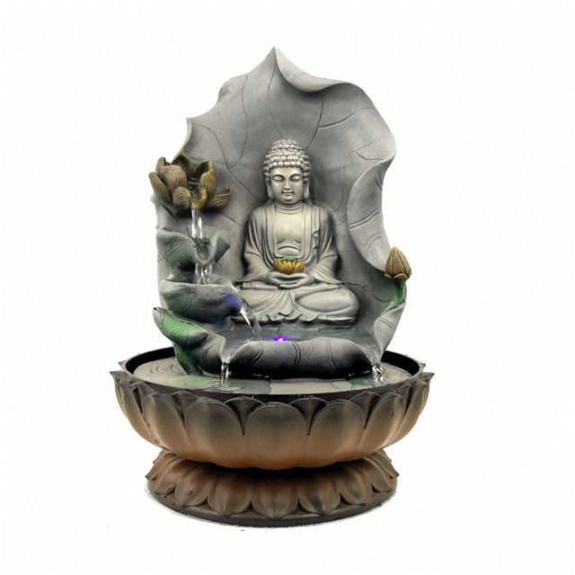 Resin religious Buddha water fountain handicraft