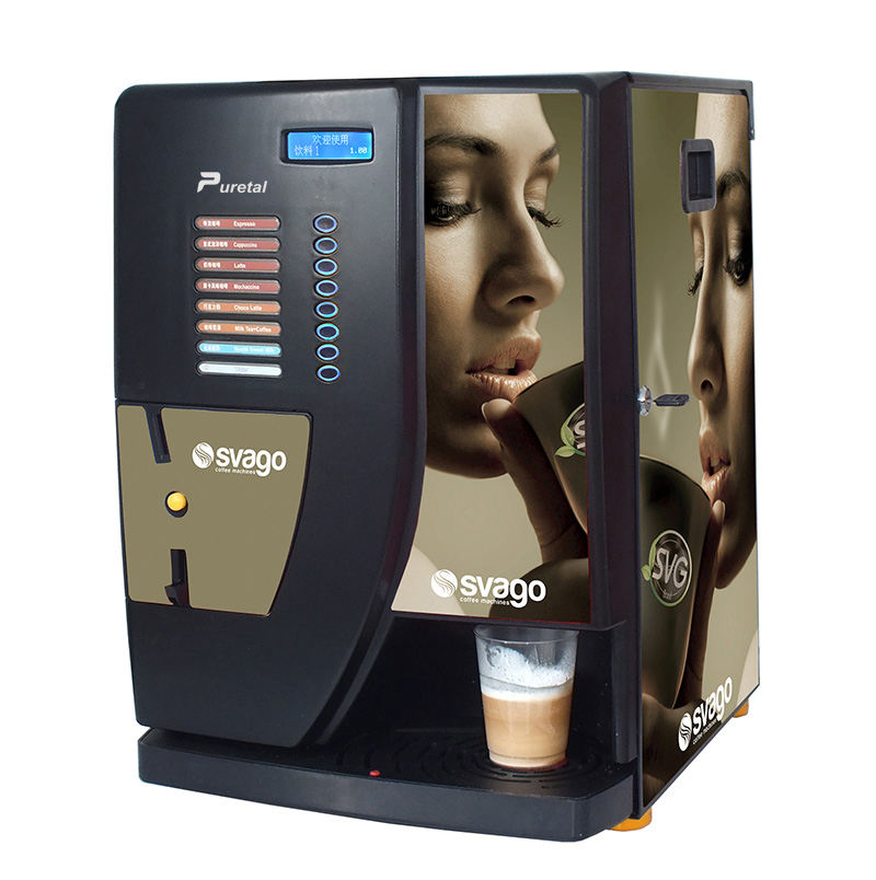 new desgin commercial automatic touch screen coin operated table top machines bean cup hot coffee instant vending machine price